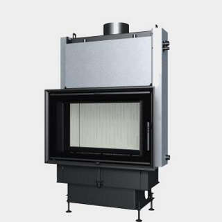 Steel energy-efficient fireplaces heating system boiler Aquatic WH 750