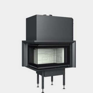 Steel energy-efficient fireplaces heating system boiler Aquatic WH V 650 CL