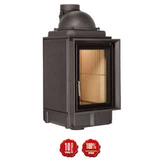 Cast-iron energy-efficient & thermodynamic fireplace HKD 2,2 f
