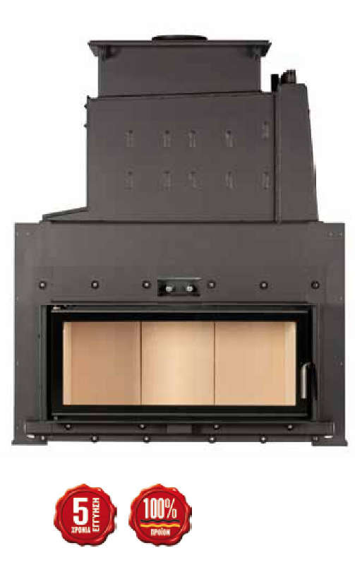 Brunner company steel energy efficient fireplaces for Fireplace heater system