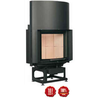 Cast-iron energy-efficient & thermodynamic fireplace RF 55.2 r
