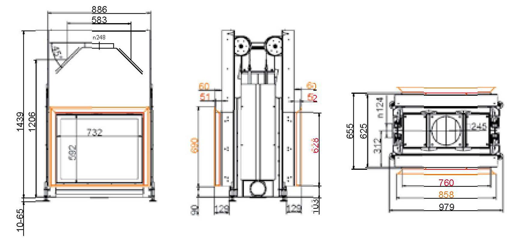 brunner company steel energy efficient fireplaces stil. Black Bedroom Furniture Sets. Home Design Ideas