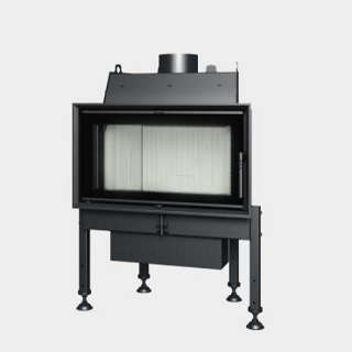 Steel energy-efficient fireplace straight opening door TREND 7