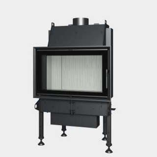 Steel energy-efficient fireplace straight opening door TREND  8